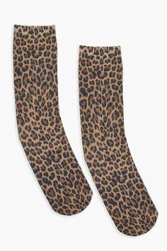 Knee Thigh Leopard Print Socks