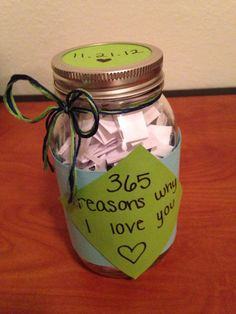 One year hookup anniversary homemade gifts for him