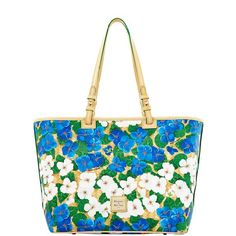 Dooney & Bourke Flowers Leisure Shopper (BLUE)