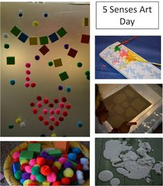 5 senses art projects for Toddlers or preschoolers