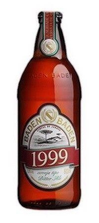 Cerveja Baden Baden 1999, estilo Special/Premium Bitter, produzida por Baden Baden, Brasil. 5.2% ABV de álcool.