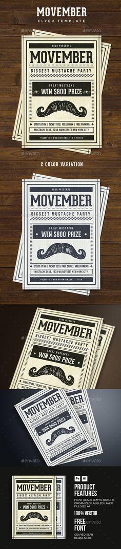 Vintage Movember Flyer