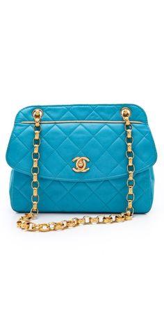 Vintage Blue Chanel Trimmed Bag
