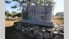 Entrance to Olustee Battlefield Historic State Park in the Osceola National Forest near Lake City.