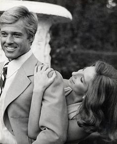 Robert Redford & Barbra Streisand on the set of The Way We Were, 1973