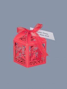 Marturii de nunta cutiute colivie rosie Decorative Boxes, Decorative Storage Boxes