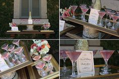 signature cocktail displayy