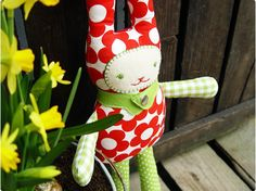Easter Bunny Toy. Free pattern