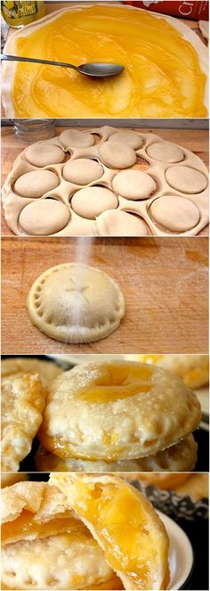 Luscious Lemonade Pie Cookies - Latest Food 1 egg Splash water 1 box Pillsbury® refrigerated pie crusts, softened as directed on box 1 jar oz) lemon curd cup sugar On parchment lined sheet bake at 350 for min. Yummy Treats, Sweet Treats, Yummy Food, Delicious Cookies, Cookies Et Biscuits, Cake Cookies, Lemon Cookies, Fruit Cookies, Cookie Recipes