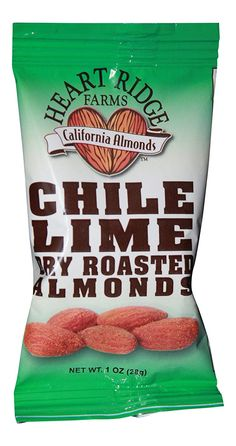 Heart Ridge Farms Gourmet Dry Roast California Almonds Grab and Go - 24 pack (1 ounce bags) (Chili Lime) *** Quickly view this special product, click the image : Fresh Groceries
