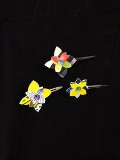 Flower Power Hair Clips (set 1) by ericacatlett on Etsy