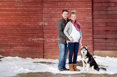 Love the sock bun. Maternity Photography Poses, Maternity Session, Maternity Pics, Photography Ideas, Funny Maternity Pictures, Winter Maternity Pictures, Photos With Dog, Baby Photos, Family Photos