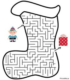 Find The Way Elf Maze Game from Printable Maze For Kids category. Find out more cool printable coloring for your child Christmas Maze, Fun Christmas Games, Christmas Puzzle, Christmas Hacks, Christmas Activities, Kids Christmas, Christmas Crafts, Christmas Worksheets, Free Christmas Printables