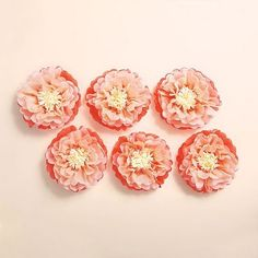 Great big paper flowers kit bridal shower inspiration pinterest coral paper flowers large mightylinksfo