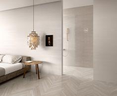Shadebox Ceramica Sant' Agostino l finstock - CDS tiles Capitol Designer Studio / Stone & Wood Tiles. Chevron Floor, Background Tile, Interior Styling, Interior Design, White Paneling, Panelling, Style Tile, Porcelain Tile, Tile Design