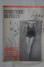 Vintage Consumer Reports,July 1961,Sun Tan Lotion,Life Preservers,Boating Safety