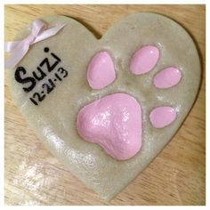 Suzi's paw print out of salt dough