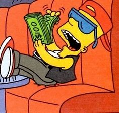 Bart Simpson counting money The Simpsons Cartoon Memes, Cartoon Icons, Cartoon Art, Funny Memes, Jokes, Simpsons Meme, The Simpsons, Simpsons Springfield, Vintage Cartoon