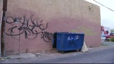 Adobe Acres in New Mexico removes graffiti to stop other crimes.  Read more about this graffiti removal project by a little town in New Mexico on our blog: http://taginator.com/wordpress/2014/03/26/adobe-acres-new-mexico-removes-graffiti-stop-crimes/ . photo by kob.com.
