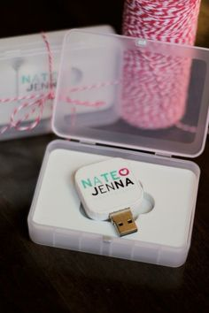 wedding thank yous - the wedding video on flash drives!!!