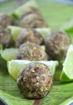 #GlutenFree #Raw #Vegan Lime & Coconut Energy Bites