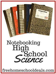 Notebooking Homeschool High School Science - such great ideas!