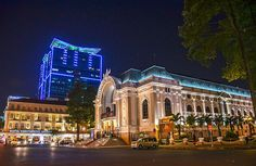 """""""Opera House at night"""" by TravelPod blogger momentsintime from the entry """"Saigon at night.....a city full of lights!"""" on Wednesday, March  5, 2014 in Ho Chi Minh City, Vietnam"""