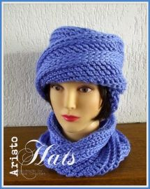 Twisted Cloche and turtle-neck Crocheted hat Gehaakte muts