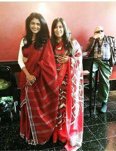 Red Cotton Handloom Sarees