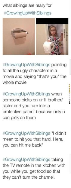Growing up with siblings #lol #laughtard #lmao #funnypics #funnypictures #humor #growingupwithsiblings #funnypeople