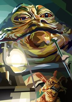 Jabba the Hutt Jabba the Hut by Liam Brazier Jaba De Hut, Cuadros Star Wars, Anniversaire Star Wars, Star Wars Painting, Jabba The Hutt, Star Wars Pictures, Star Wars Wallpaper, Star War 3, Illustration