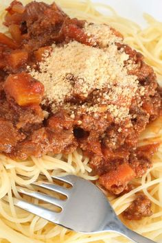 Spaghetti With Quick Meat Sauce #Recipe
