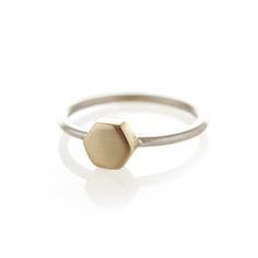 Brass hexagon ring