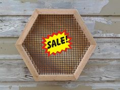Handcrafted Rustic Cedar Hexagon Shaped Vertical Succulent