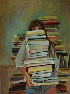 """simena: """" Oronska Katarzyna """" This art would be a great explanatory image for my reason not to be allowed in book stores after pay day."""