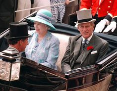 The Queen and the Duke of Edinburgh arrive at Royal Ascot for the first (Tuesday) of four days of racing