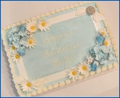 Daisies and Hydrangeas By LisaMS on CakeCentral.com