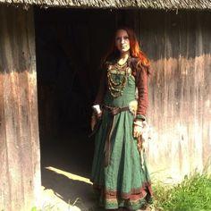 Marjolein Hoekendijk at the viking market in Archeon