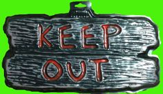 Gothic Horror-KEEP OUT-Halloween Prop Decoration cemetery, graveyard, door, yard Warning SIGN for Teenager Room, Teen Bedroom, Man Cave, Castle Haunt Décor. Creepy Haunted House spooky dungeon, tombstone scene or costume party wall display. Can't say you didn't warn them! http://horror-hall.com/Gothic-Horror-Sign-KEEP-OUT-Man-Cave-Halloween-Prop-Decoration-HH-RG-G89915-KEEPOUT.htm