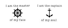 i am the master of my fate tattoo - Google Search