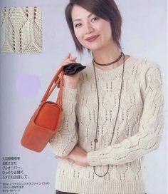 Пуловер с геометрическим узором спицами. Обсуждение на LiveInternet - Российский Сервис Онлайн-Дневников
