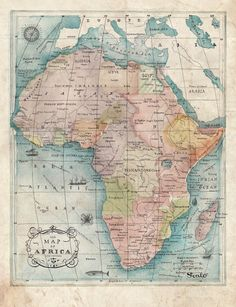 Illustrated African Map by Soil Design, via Behance #map #africa