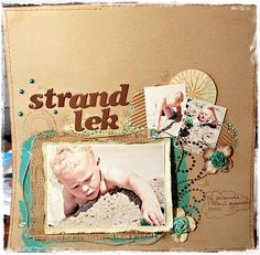 I love the color combo and layout.  I also have an intense love for kraft cardstock.  Swoon...