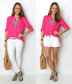 Love the way she pairs different colors - I would never think of putting turquoise and pink together.  She inspires me.