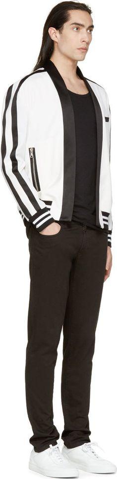 Farb-und Stilberatung mit www.farben-reich.com - Balmain White Satin Trimmed Blazer