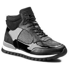 Sneakersy CARINII - B3253 Classic Nero/Lak. Czarny/Very Black
