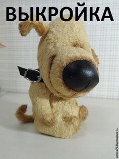 Куклы и игрушки ручной работы. Ярмарка Мастеров - ручная работа. Купить Выкройка носатой собачки. Handmade. Кремовый, щенок тедди