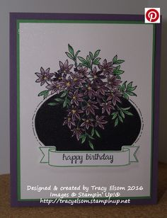 Birthday card created using the Awesomely Artistic Stamp Set from Stampin' Up!  http://tracyelsom.stampinup.net