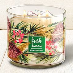 Fresh Balsam 3-Wick Candle - Home Fragrance 1037181 - Bath & Body Works