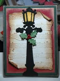 die cut Christmas lamp post cards - Google Search